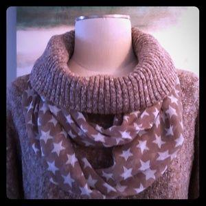 Brown multi-color sweater